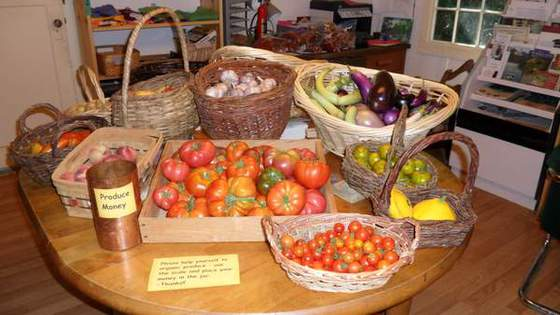 1-Organic Produce (We offer a selection of organic produce from the ranch that changes with the seasons.)