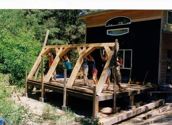 3. Timber Frame (Many hands make light work)