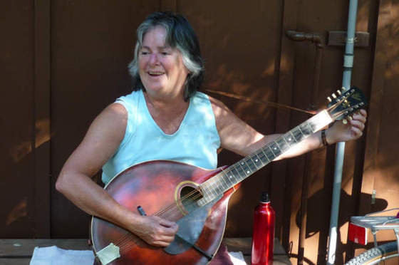 Gail with mandocello