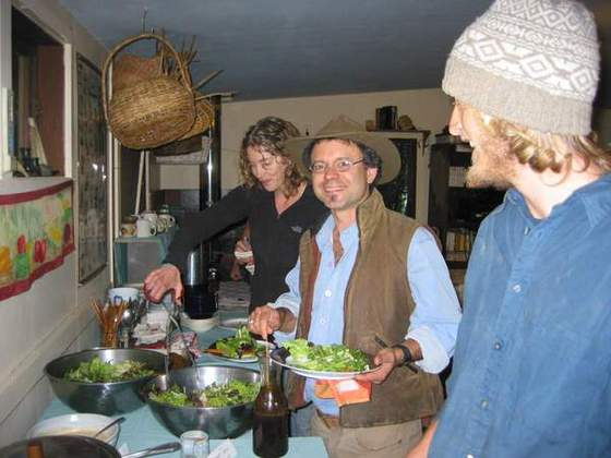 Lunchtime! (We serve lots of fresh produce from our gardens during workshops)