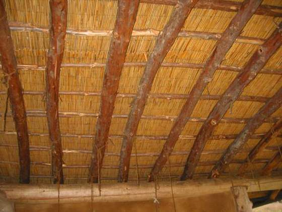 Round Pole Roof (With reed matting)