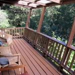 Private deck with river view.